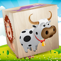 Blocks Puzzle for baby kids - Animals icon