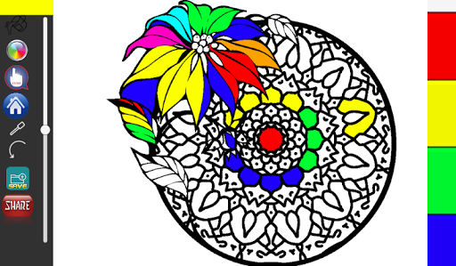 Coloring Book For Me And Adults With Mandala