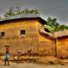 Village by Sandip Ghose - Travel Locations Landmarks ( village, hdr, hut, scene, people )