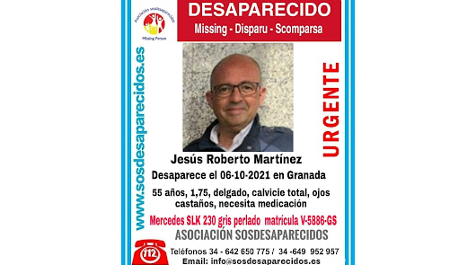 Buscan a un hombre desaparecido en Granada el pasado 6 de octubre