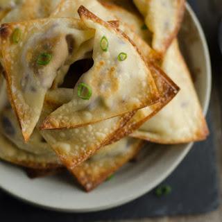 Vegetarian Crispy Baked Wontons.