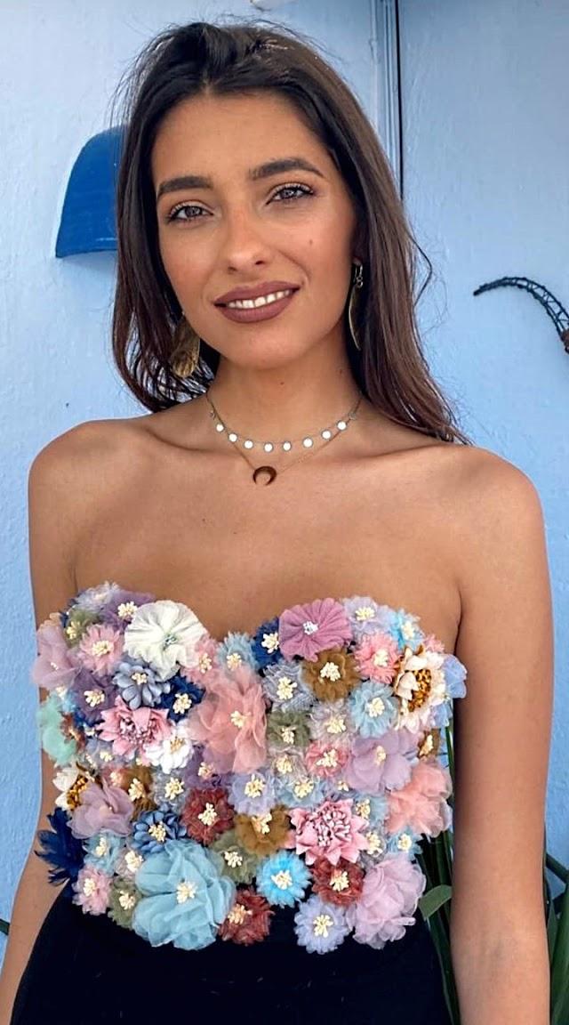 Ana García Segundo vestida con una de las creaciones de Sergi Regal.