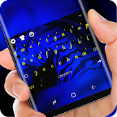 Blue Zebra HD Wallpaper Yellow Font Keypad