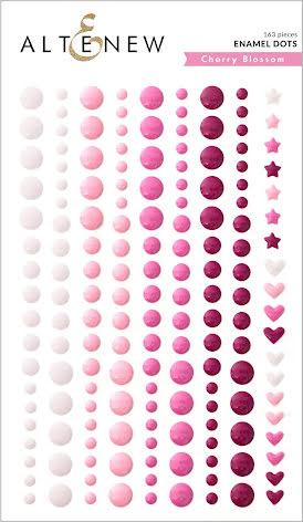 Altenew Enamel Dots 153/Pkg - Cherry Blossom