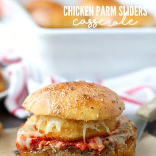 Chicken Parmesan Sliders Casserole