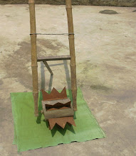 Photo: Locally developed, low cost cono weeder presented in SRI Status report in Chhittisgarh [report by Saroj Kumar Jena]