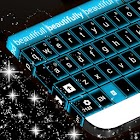 Glowing Blue Neon Keyboard icon
