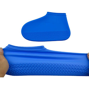 Huse din silicon pentru protectie incaltaminte, albastru, marimea 38 - 43