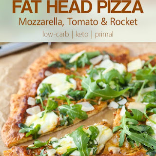 Fat Head Pizza with Mozzarella, Tomato & Rocket