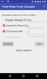 Three Phase Power Calculator- screenshot thumbnail