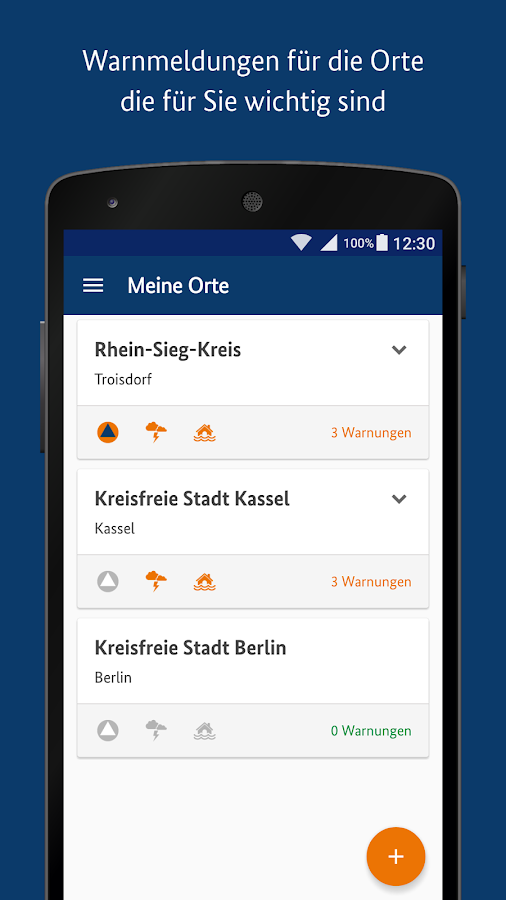 NINA - Die Warn-App des BBK- screenshot