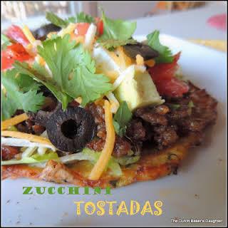 Zucchini Tostadas with Chorizo.