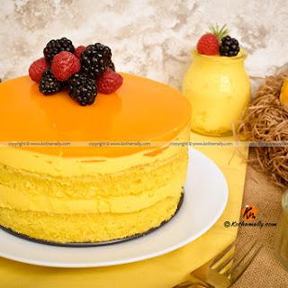 Mango Mousse Cake.