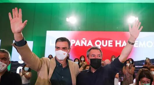 Pedro Sánchez arropa a Espadas en su liderazgo del PSOE de Andalucía