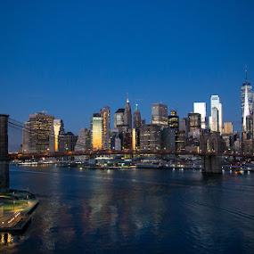 Manhattan Sunrise by VAM Photography - Buildings & Architecture Other Exteriors ( sunrise, places, manhattan, weather, landscape, architecture )