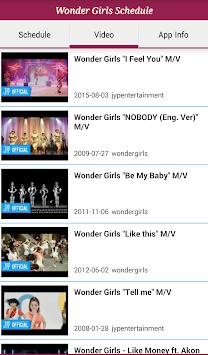 Wonder Girls Schedule Poster Wonder Girls Schedule Poster