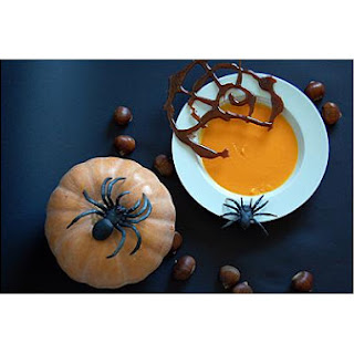 Pumpkin Puree With Sugar and Beer's Spider Web Reduction
