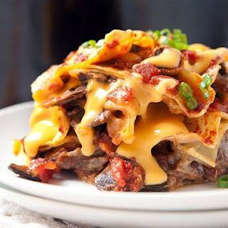 Slow-Cooker Cheesesteak Lasagna.
