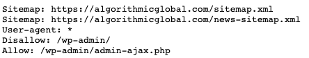 Algorithmic Global robots.txt file
