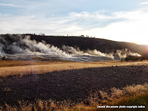 Photo: Geyser field in the morning