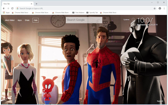 Spider Man Into The Spider Verse New Tab