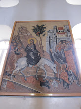 Photo: The stations of the cross are (somewhat newer) mosaics