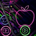 Neon Apple Colorful Launcher Theme🍏 icon