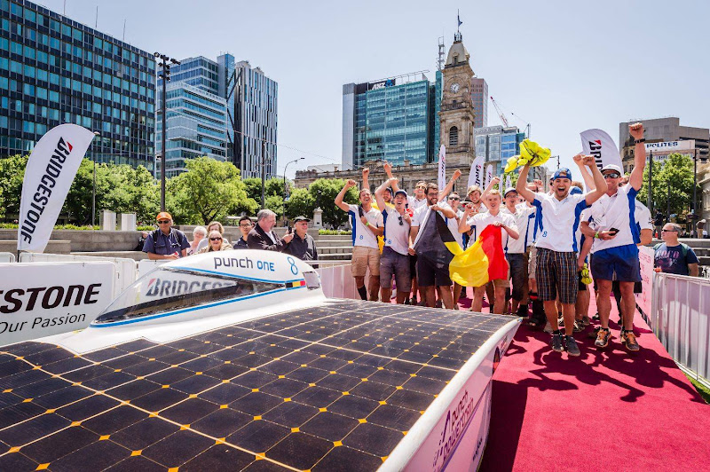 Fastest Belgian solar car finishes fifth in World Championship
