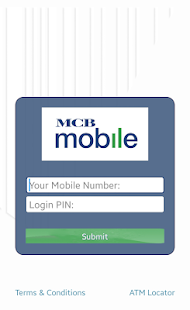 MCB Mobile Banking Application - náhled