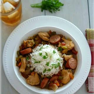 Bourbon Street Stew with Rice.