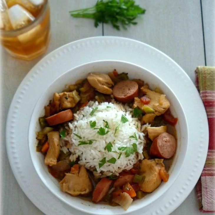 Bourbon Street Stew with Rice