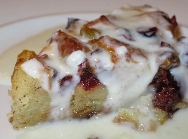 Fruitcake Bread Pudding