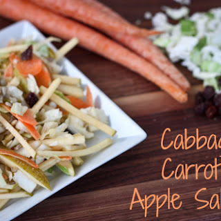 Cabbage, Carrot and Apple Salad.