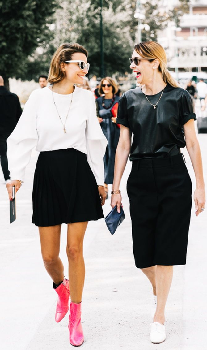trendy looks, black and white combinations 7