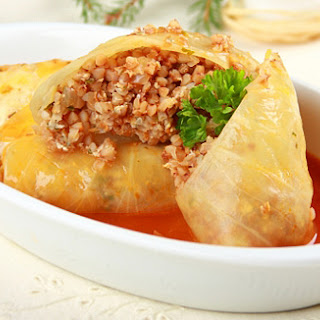 Cabbage Rolls With Potato And Buckwheat.