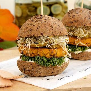 Curried Pumpkin and Chickpea Burgers [Vegan, Gluten-Free].