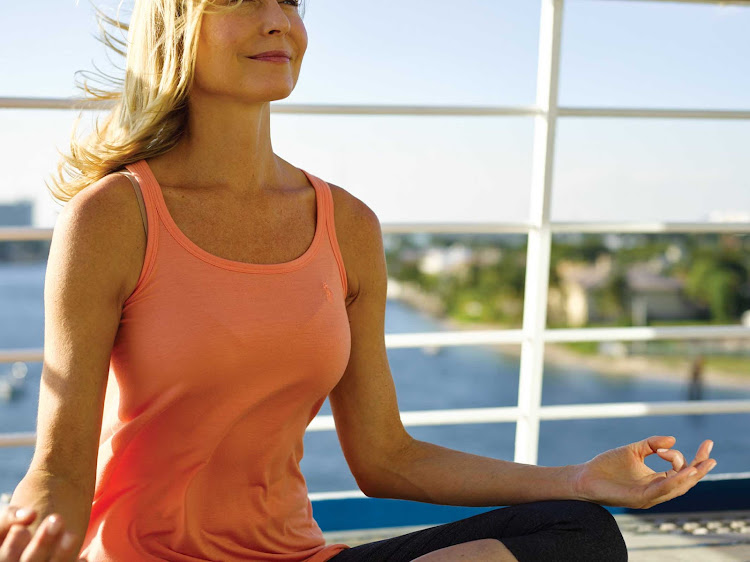 Get centered during a series of wellness routines on your Silversea sailing.