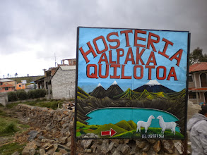 Photo: Where else would we stay at Quilotoa Lake? The Inn was rustic but beautiful and the bed with thick alpaca comforter was awesome!