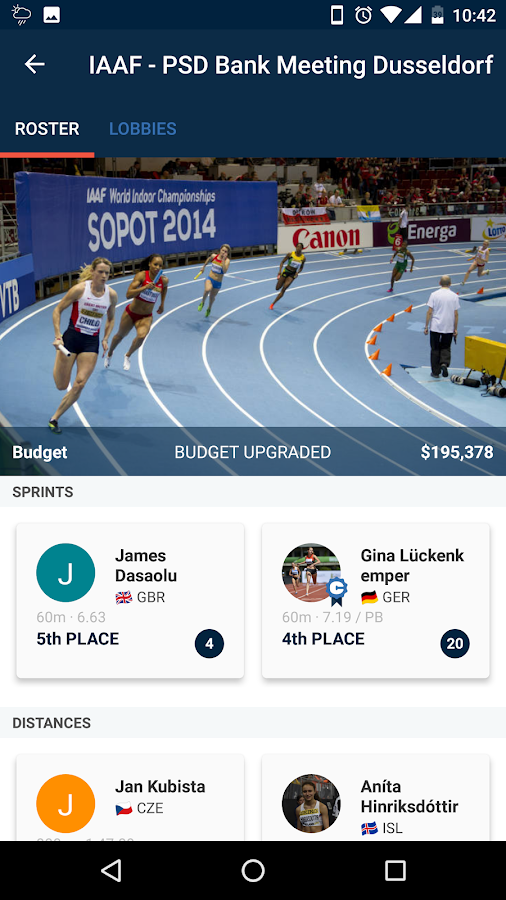 Roster Athletics Track & Field- screenshot