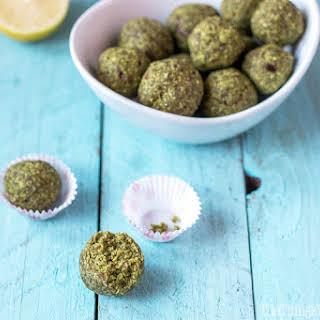 Matcha Coconut Lime Balls.