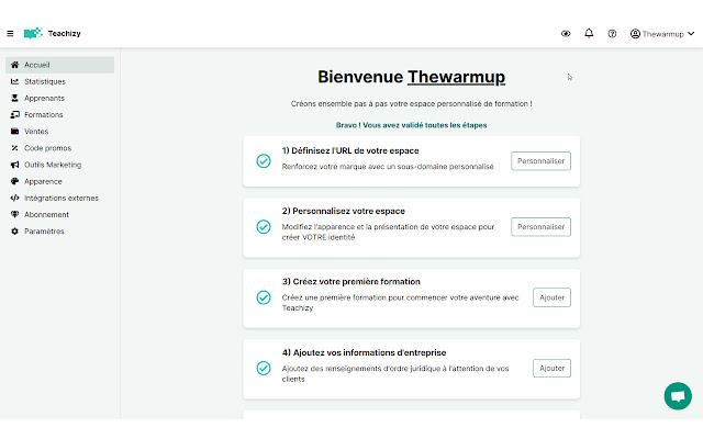 Teachizy, Plateforme LMS (formation en ligne)