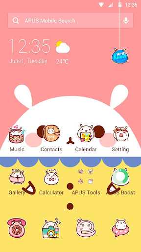 玩免費個人化APP|下載Rabbit|APUS Launcher theme app不用錢|硬是要APP