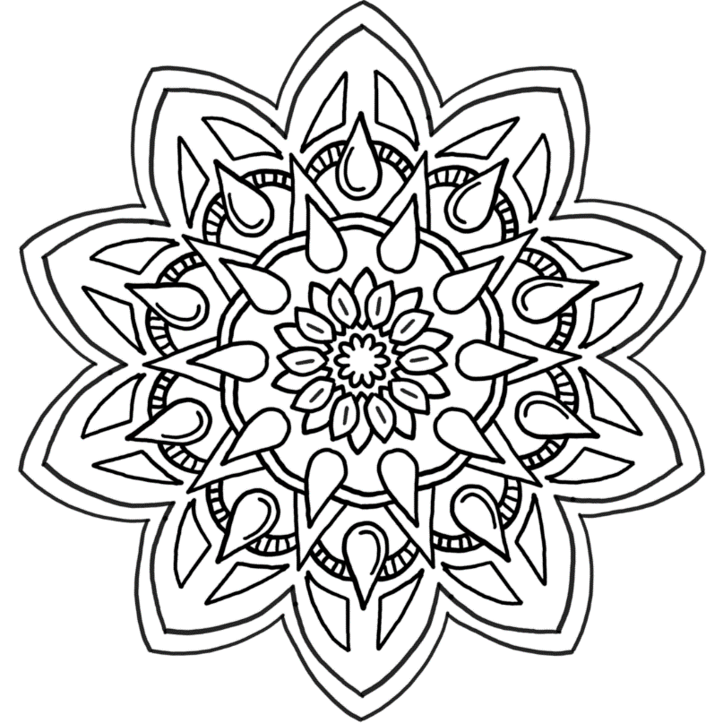 Picture of Gentle Thorns coloring page