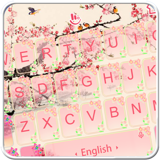 Pink Plum Blossom Keyboard Theme file APK Free for PC, smart TV Download