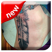 Feather Tattoo Design 3D