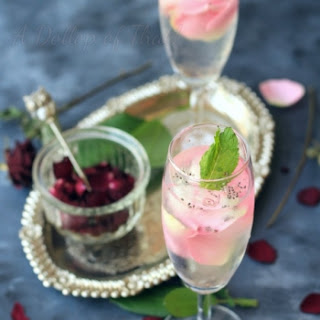 Rose and Chia Seed Infused Detox Water Recipe