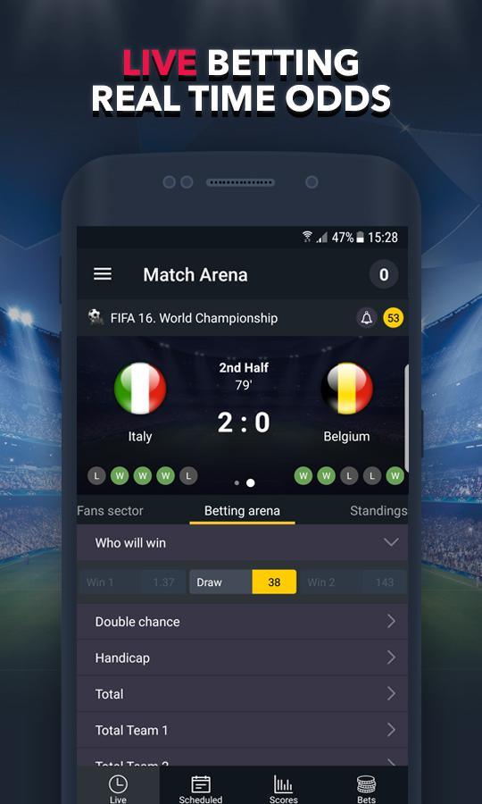 BETUP - Sports Betting Game & Live Scores Android 2