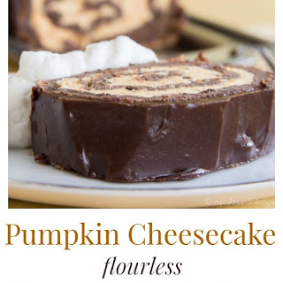 Pumpkin Cheesecake Flourless Chocolate Cake Roll for #PumpkinWeek