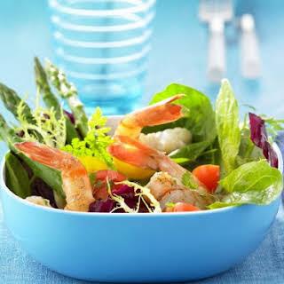 Mixed Leaf and Prawn Salad Bowl.