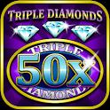 Triple 50x Diamond Slots icon